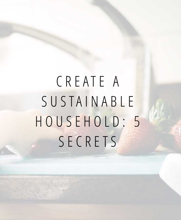Create a sustainable household: 5 secrets