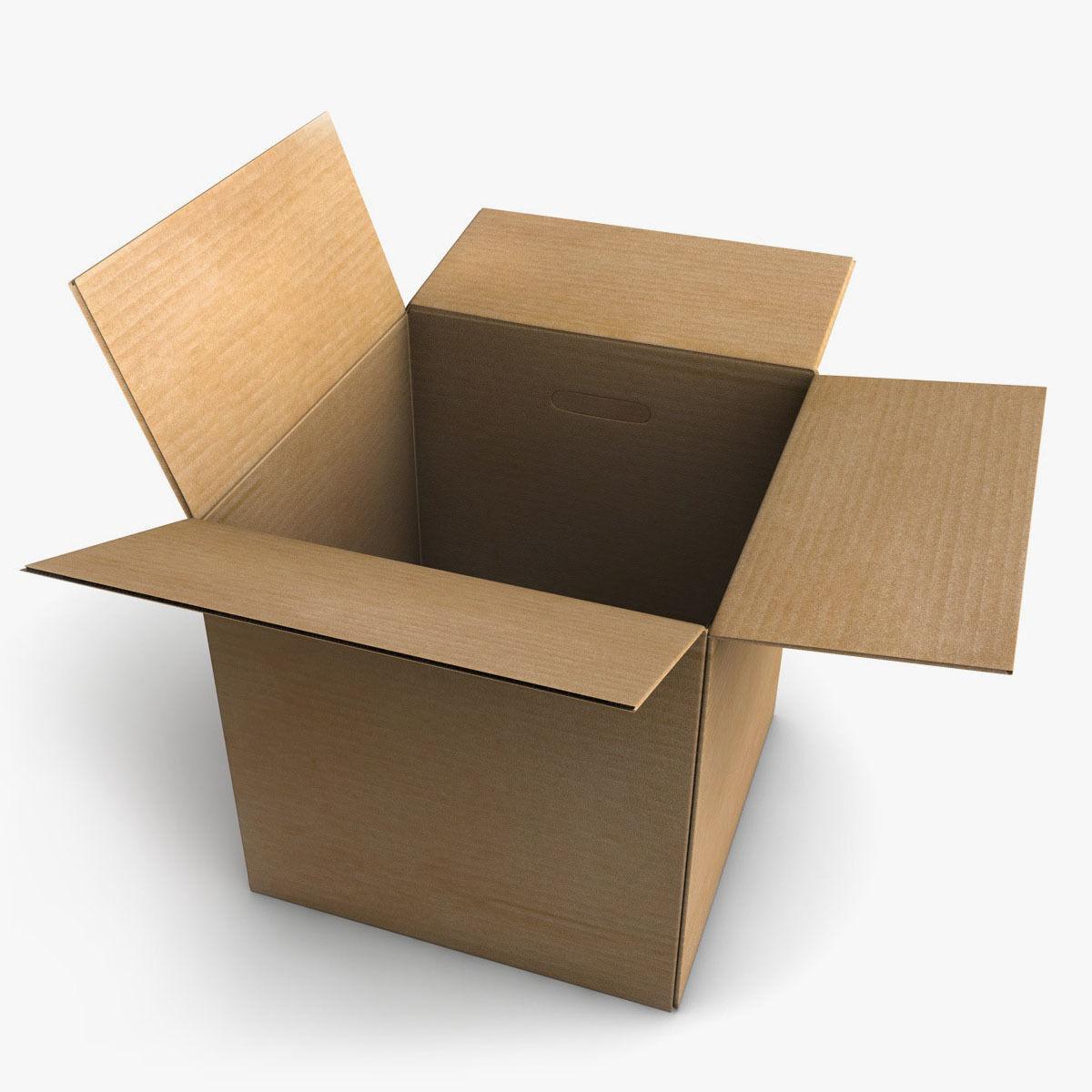 rigged cardboard box 3d model rigged obj 3ds fbx c4d mama minimalist